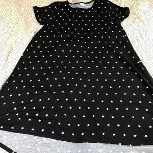 LuLaRoe Black Star carly dress 3xl NWOT